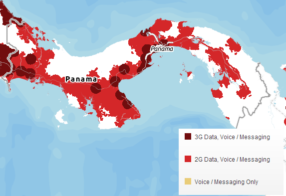 Cell Phones In Panama Abroad Dreams - Us cellular coverage map vs verizon