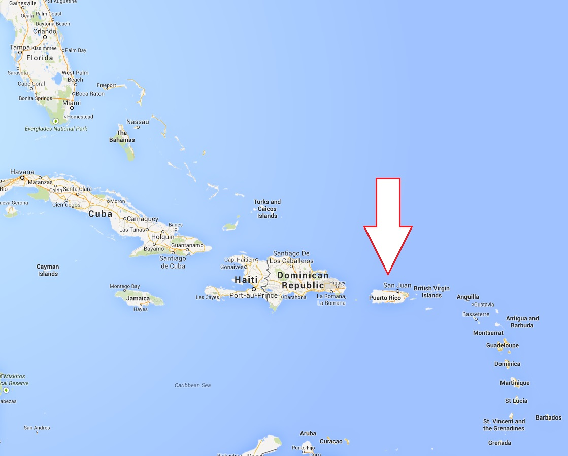 Map Of Florida And Puerto Rico  MAP