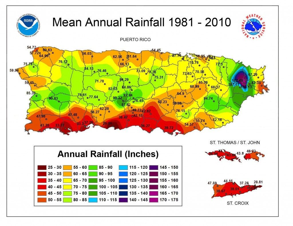 Climate in Puerto Rico - Rainfall