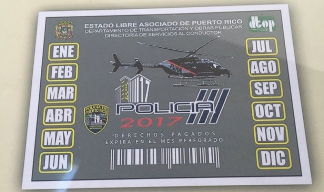 marbete, register your car in puerto rico