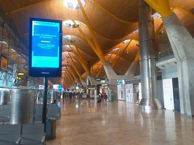 Flying Iberia Airlines To Spain - Airport