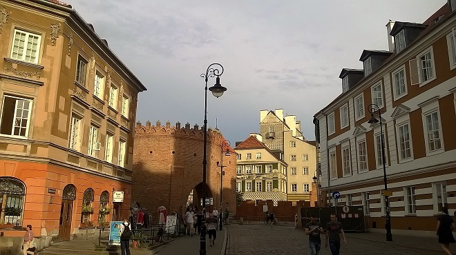 Warsaw Poland Old City gate