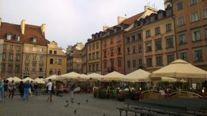 Old Town Square with cafes