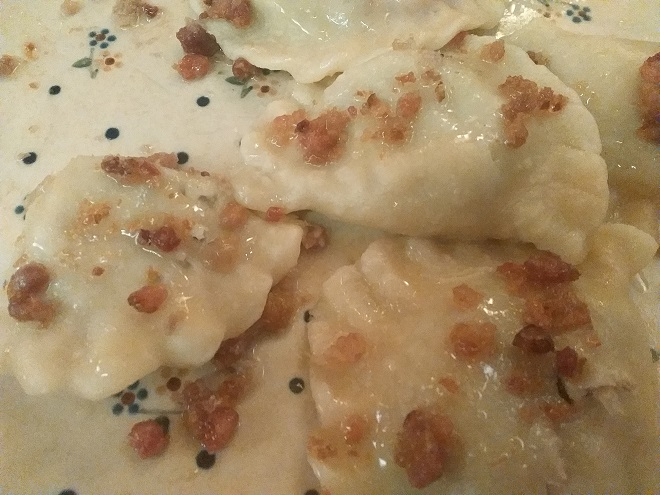 Polish food pierogi