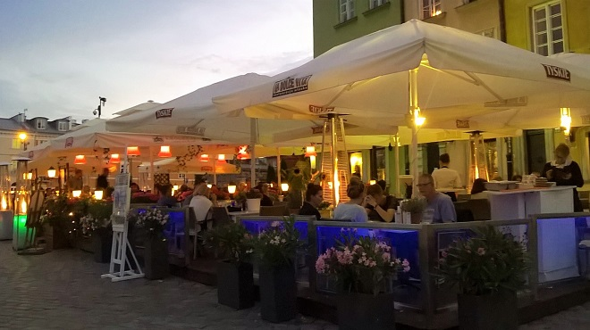 Warsaw Cafes At Night