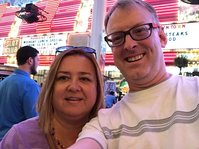 Jo and Tim in Vegas